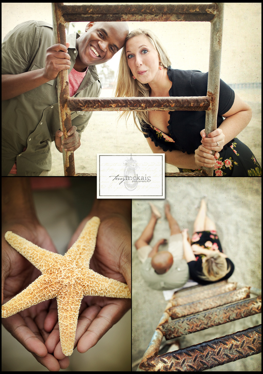 modern vintage beach engagement phoenix wedding photography