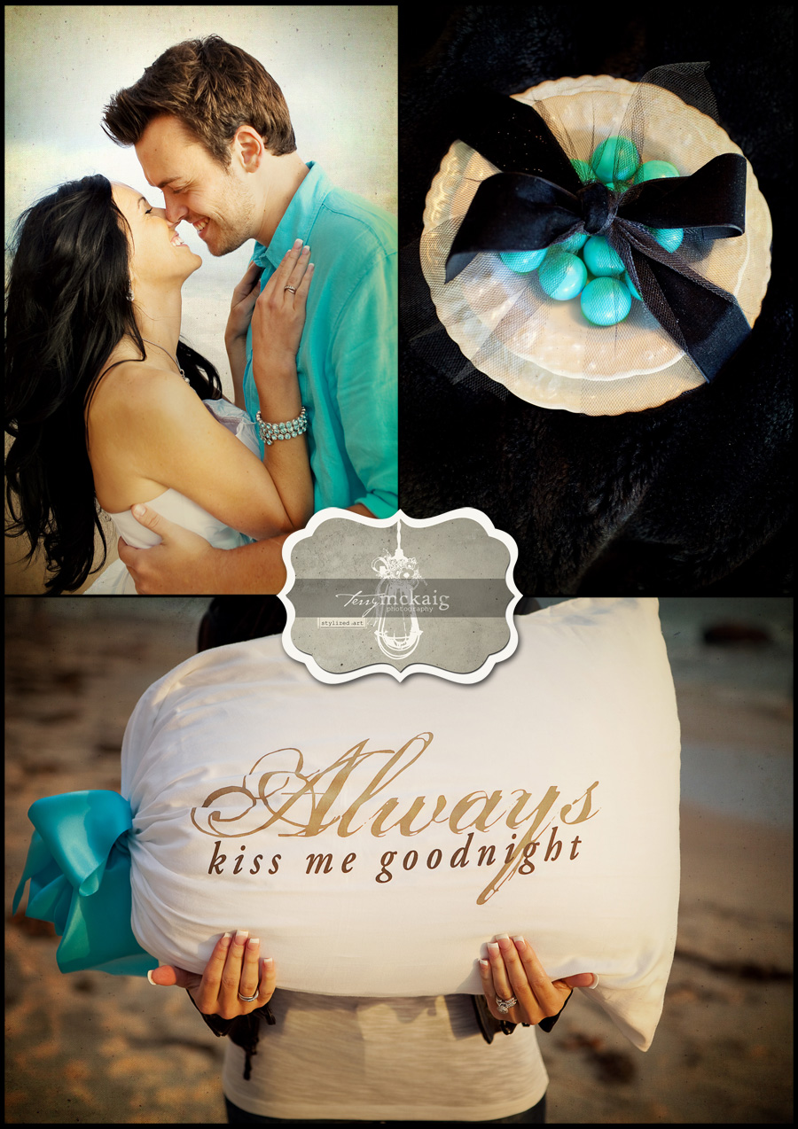 stylized beach engagement phoenix wedding photography