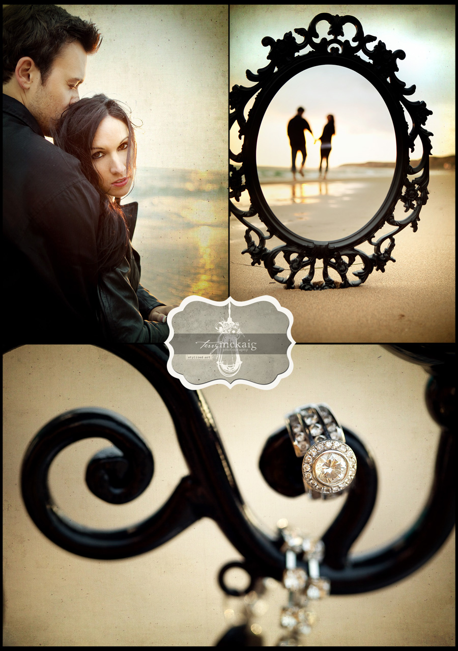 stylized beach engagement phoenix wedding photographer