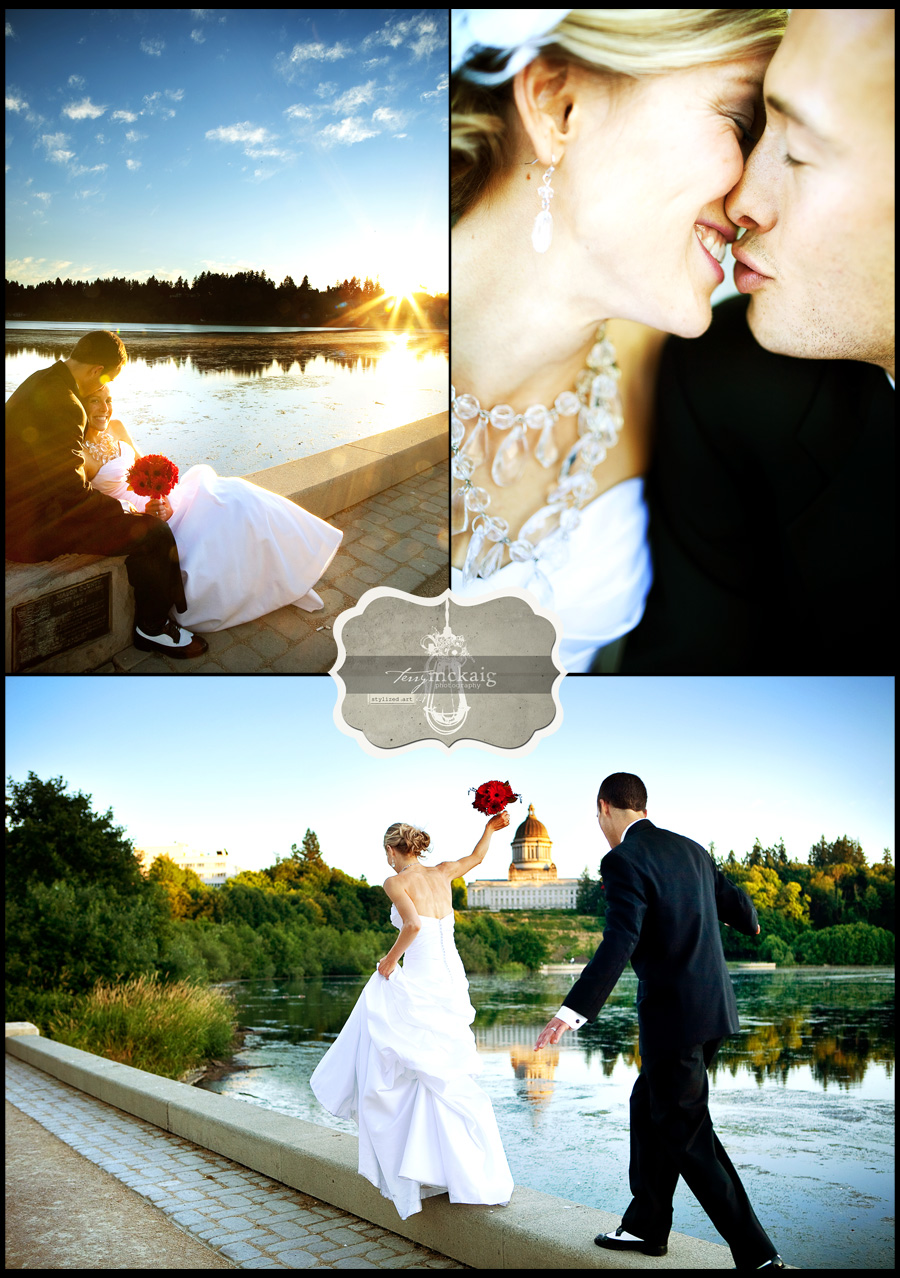 lake side wedding