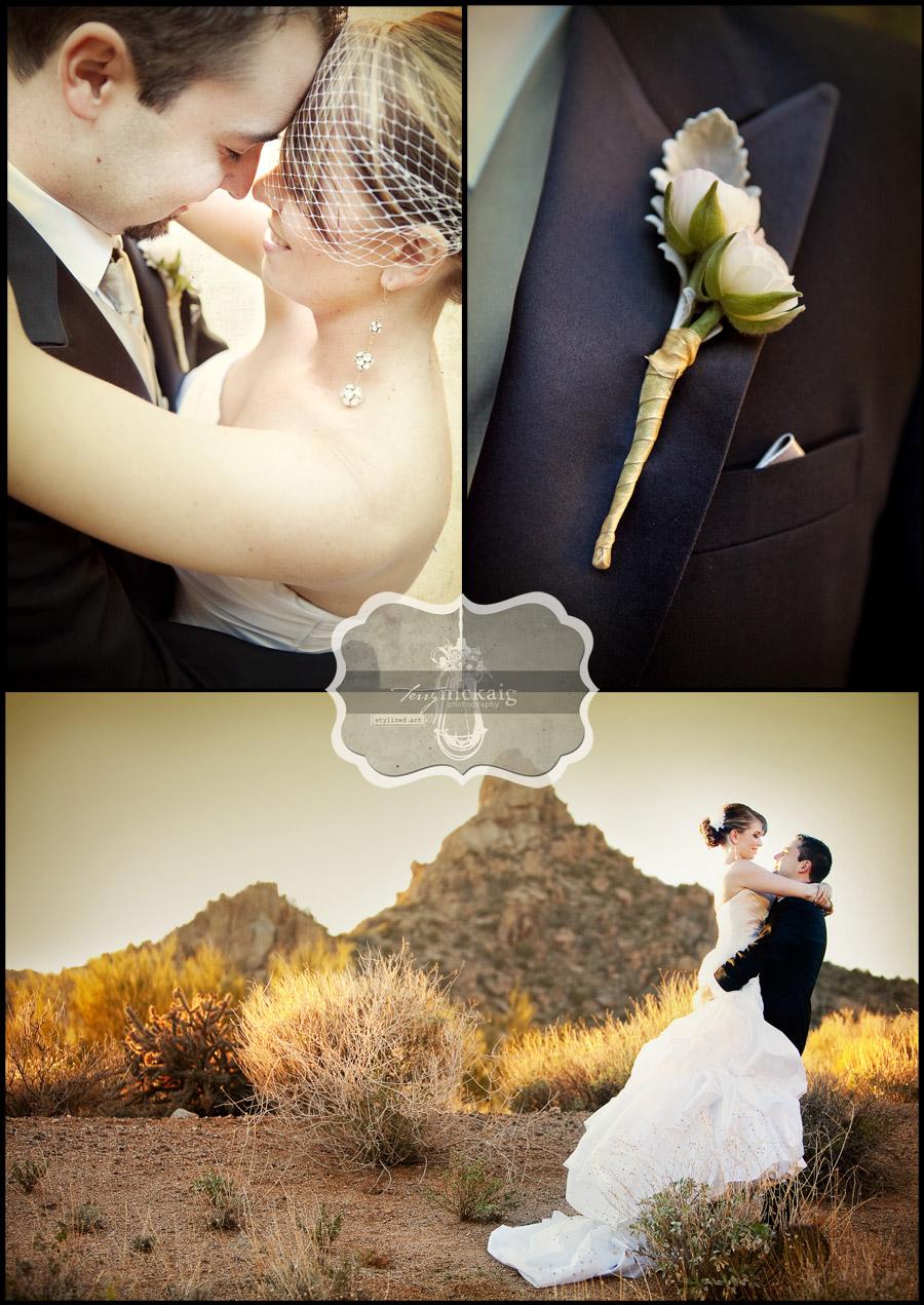 vintage desert wedding