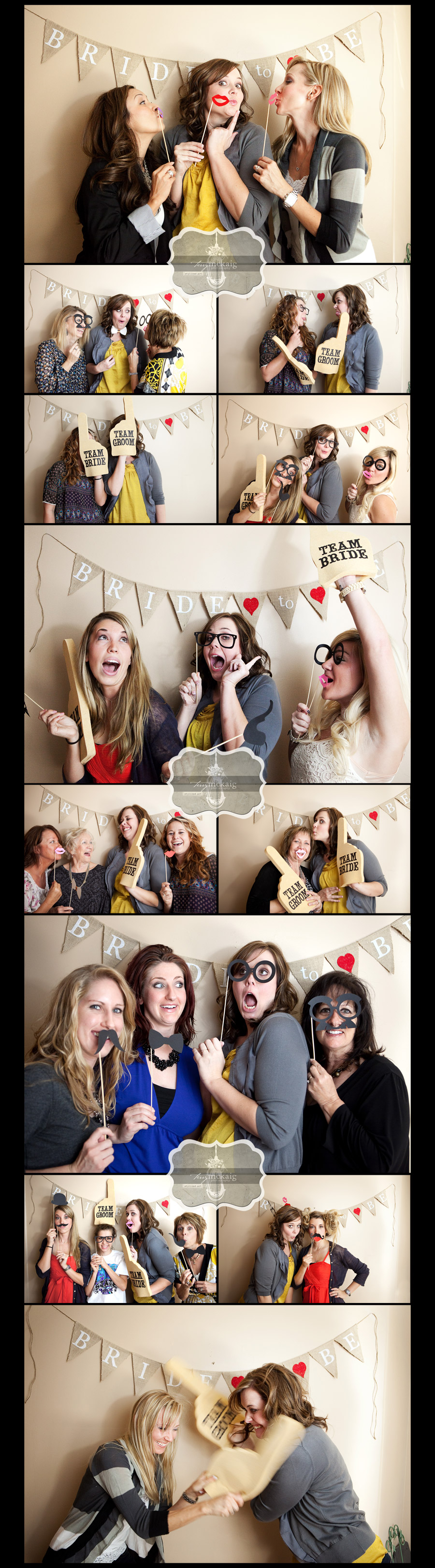 bridal shower photo wall