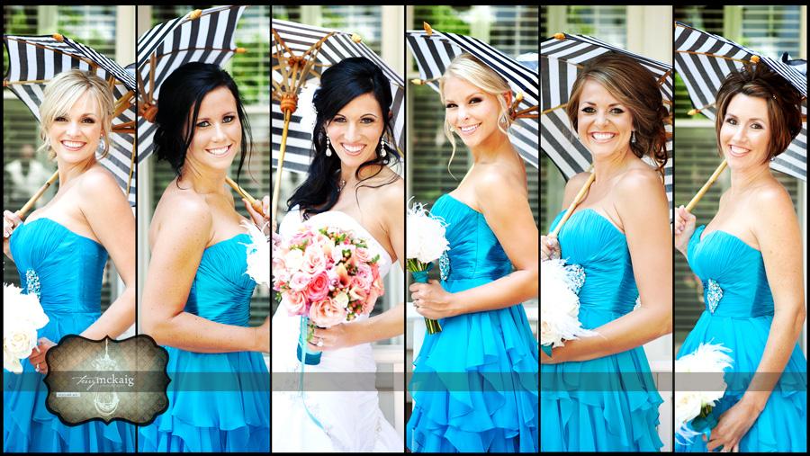 bridal party coronado island beach wedding