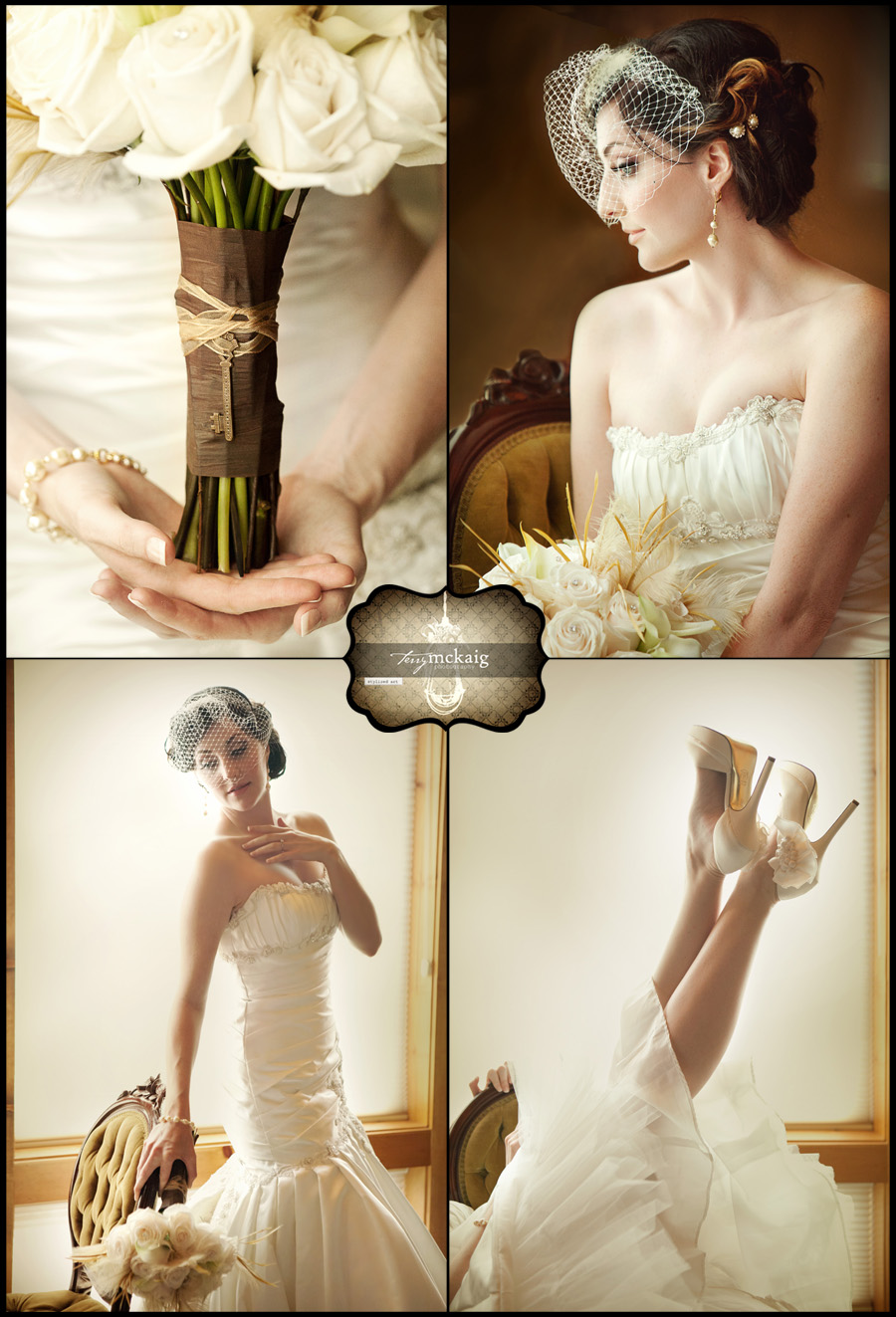 Modern Vintage Bride Wedding Phoenix Photographer