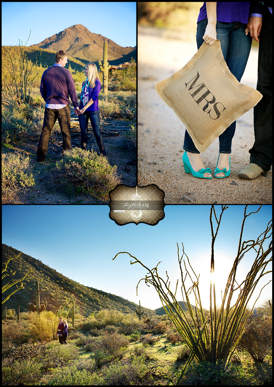 Scottsdale engagement photographer desert engagement