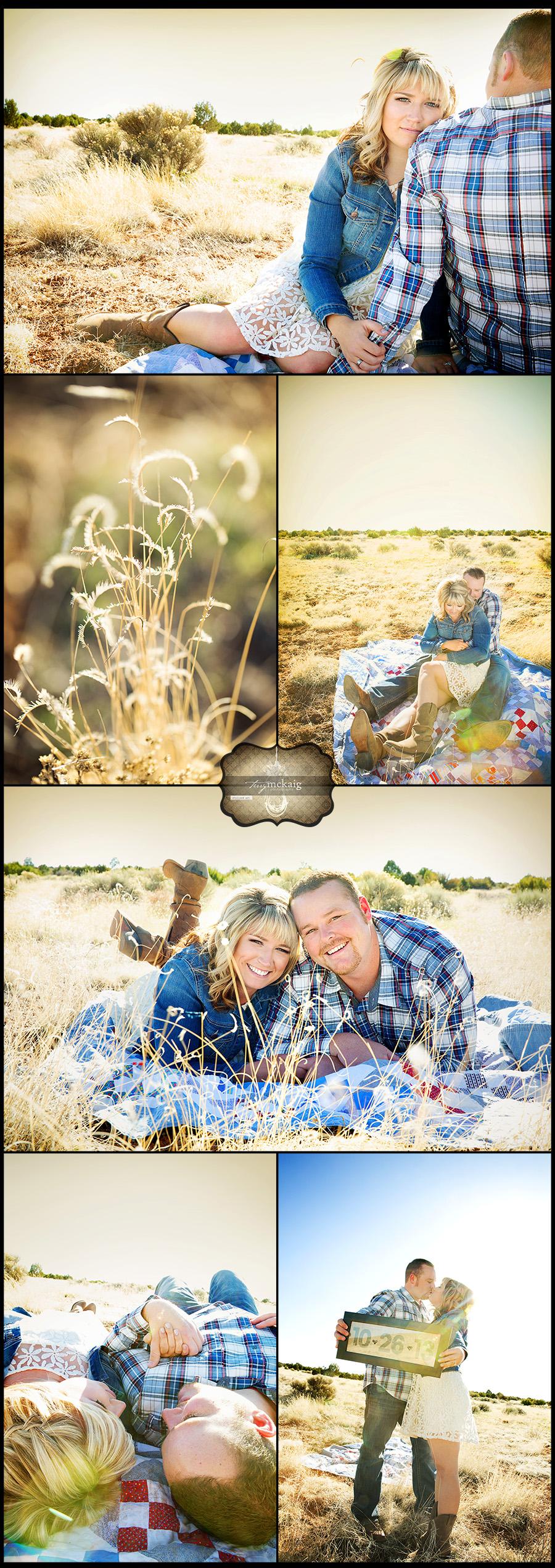 Arizona country engagement Happy Jack Phoenix engagement photographer