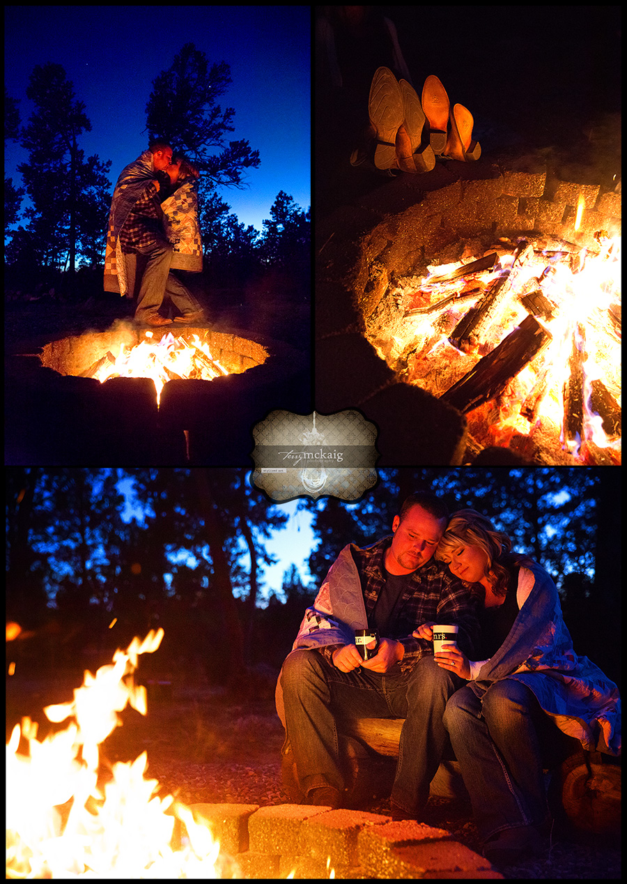 country engagement Happy Jack Arizona phoenix engagement photographer