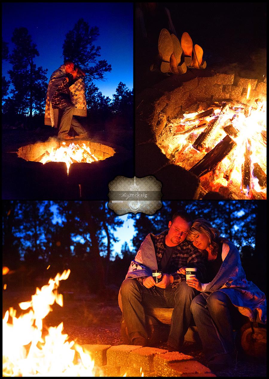 country engagement Happy Jack Arizona phoenix engagement photographer