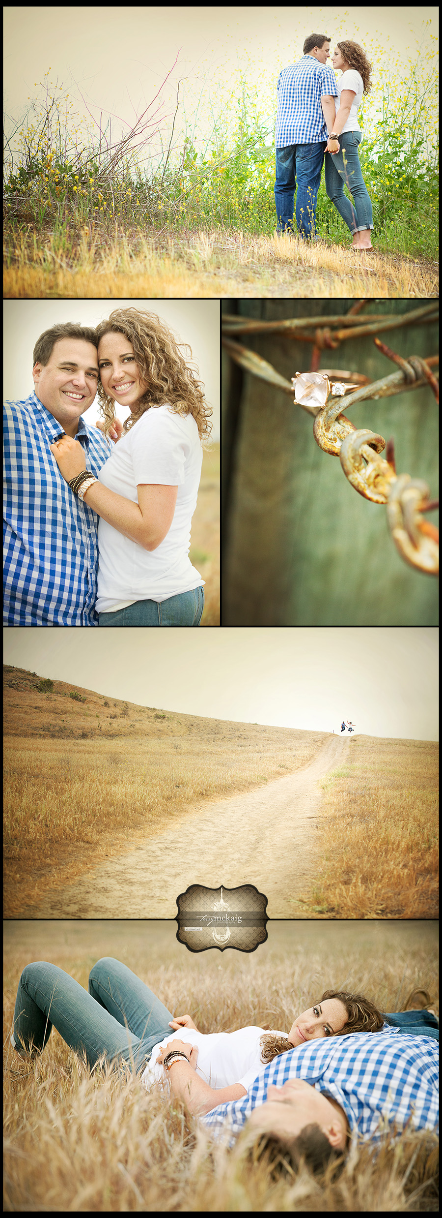 Phoenix engagement country engagement wild flowers