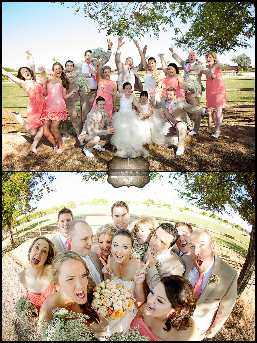 fun wedding party photos phoenix wedding photographer