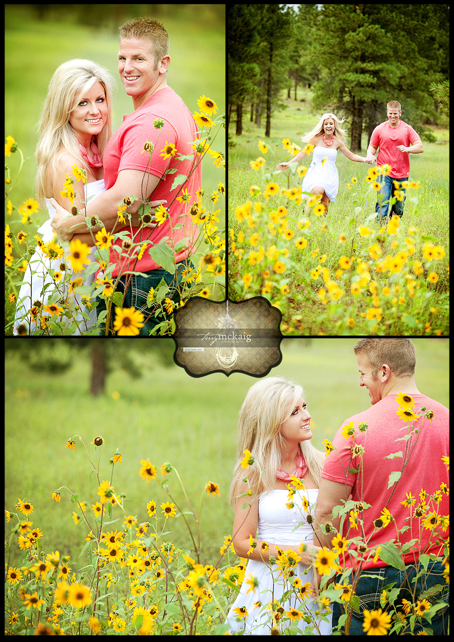 Wild flowers engagement Terry McKaig photography