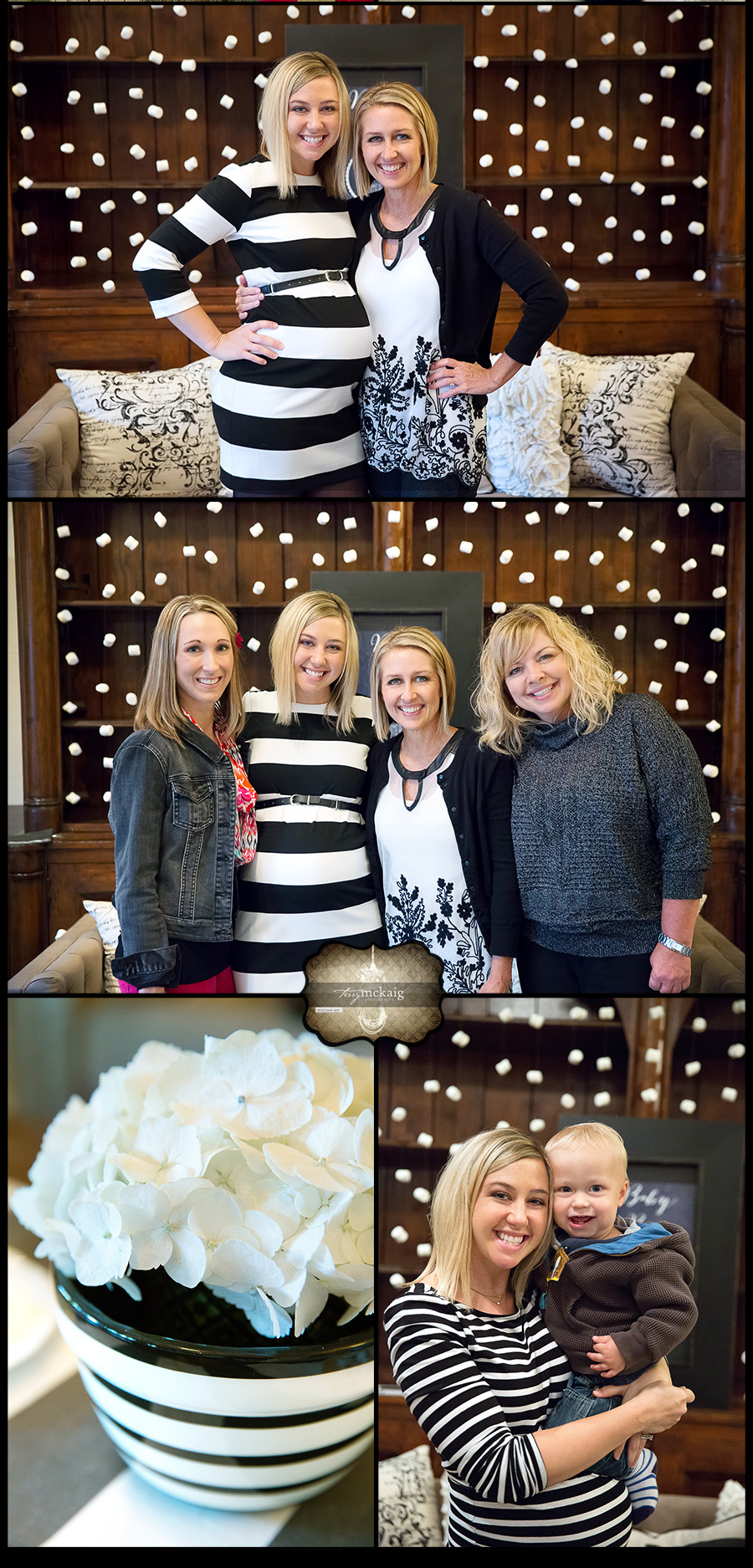 Baby Shower Black and White design Terry McKaig Photography