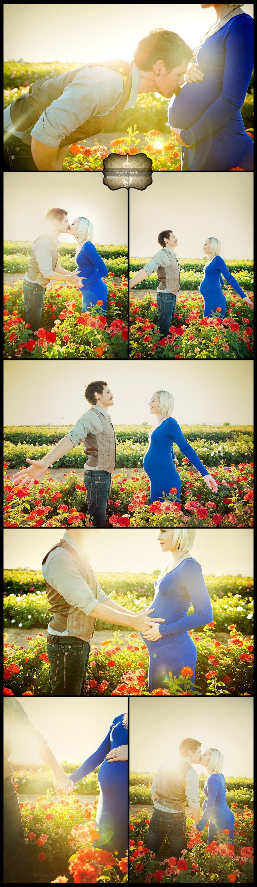 Country roses maternity session Terry McKaig Photography