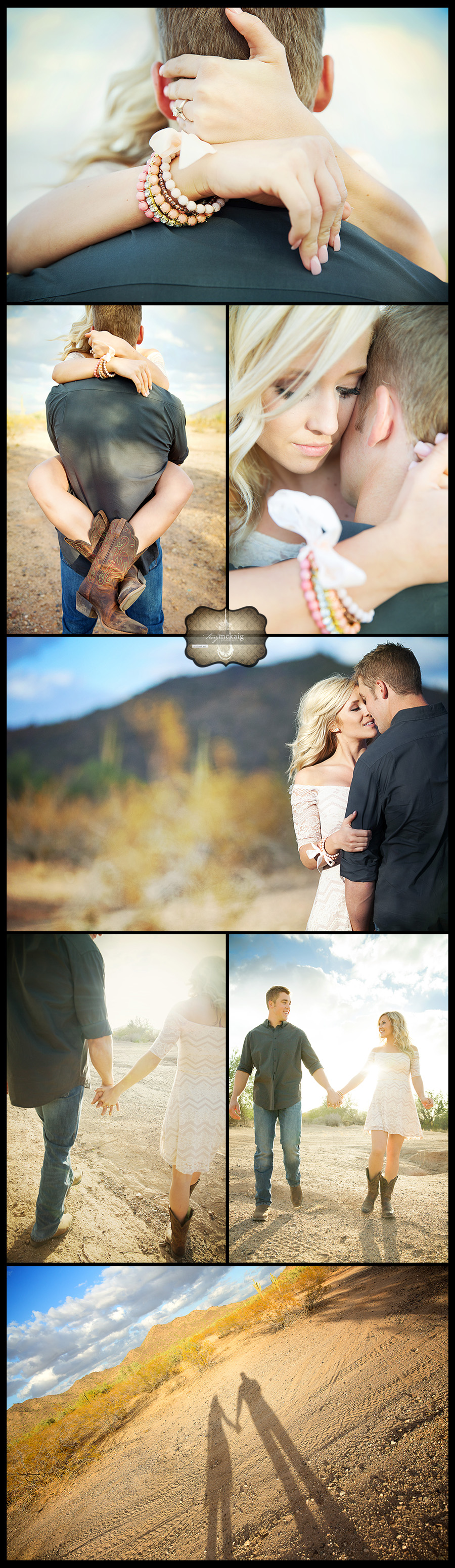 Romantic desert engagement Terry McKaig Photography