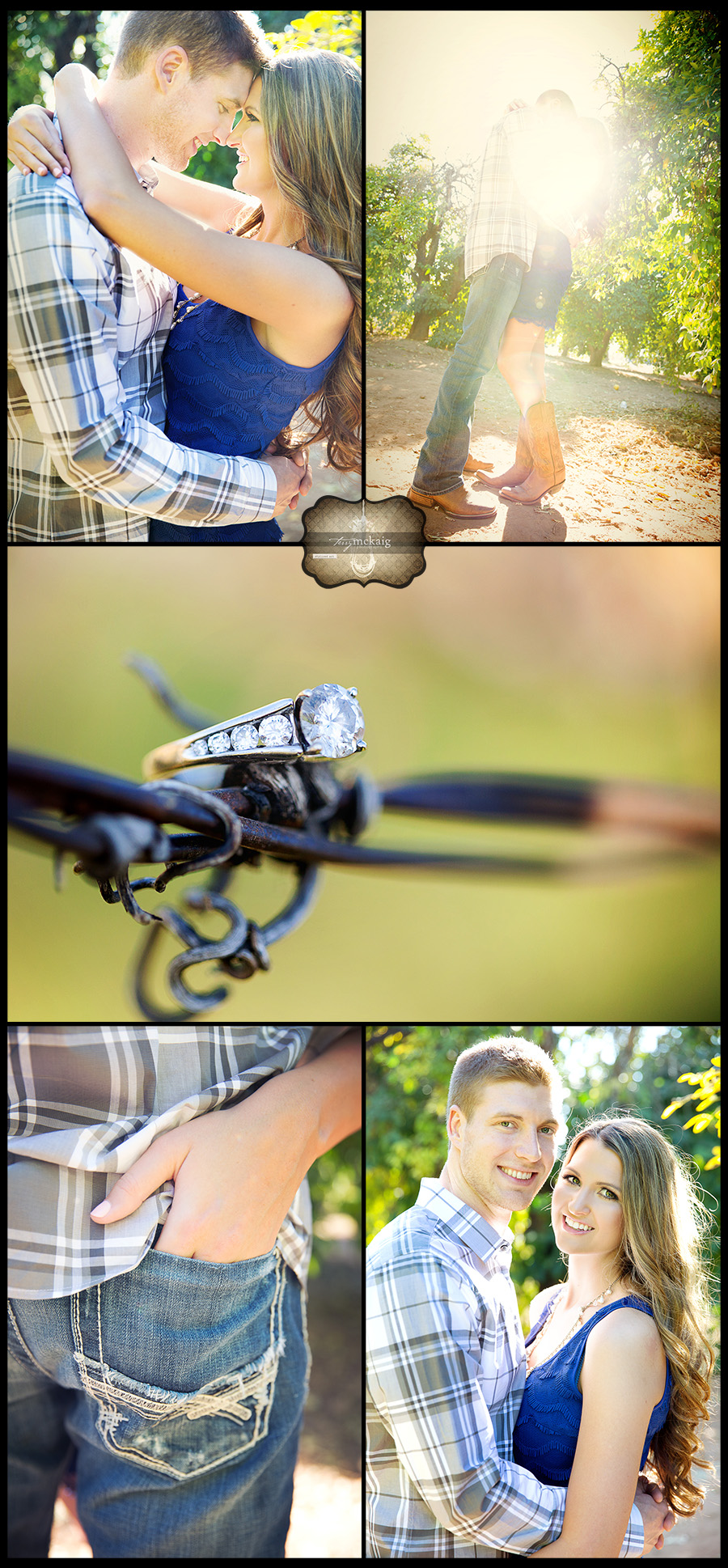 Country engagement phoenix wedding photographer terry mckaig photography